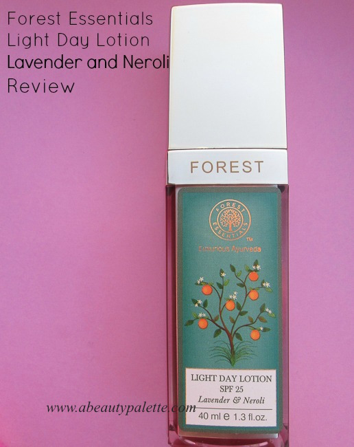 Forest Essentials Light Day Lotion Lavender and Neroli Review