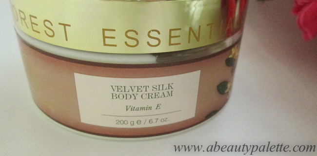 Forest Essentials Velvet Silk Body Cream Vitamin E 3 a