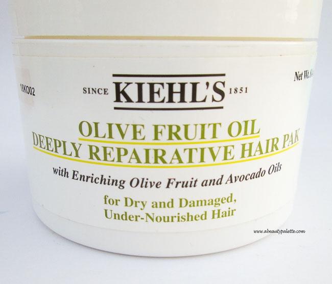 Kiehl's Olive Fruit Oil Deeply Repairative Hair Pak
