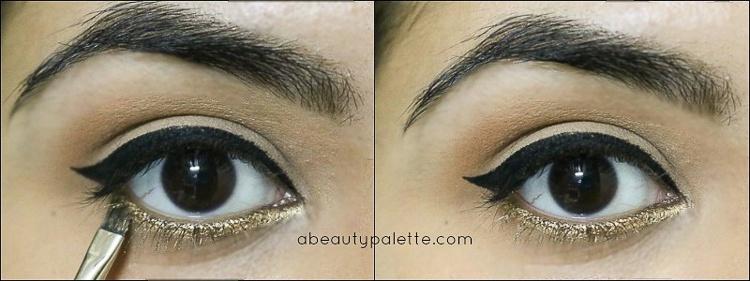 Gold Glitter Eyes Red Lips Tutorial