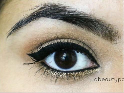 Gold gliiter eyes tutorial