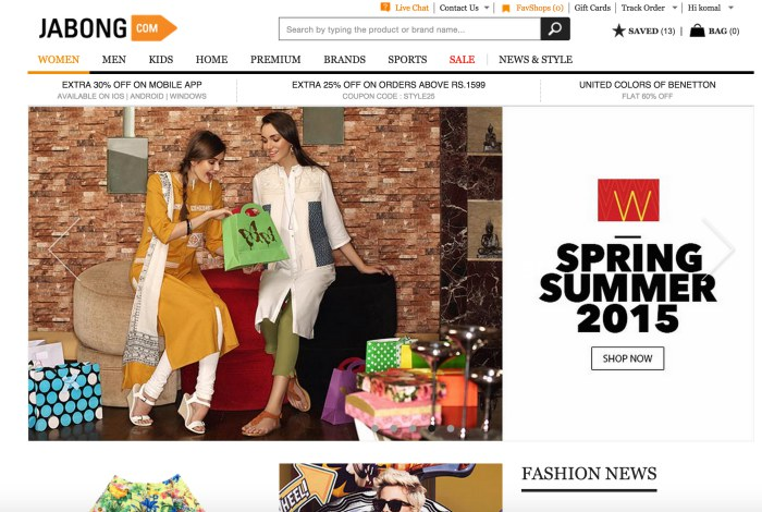 Shopping Experience With Jabong