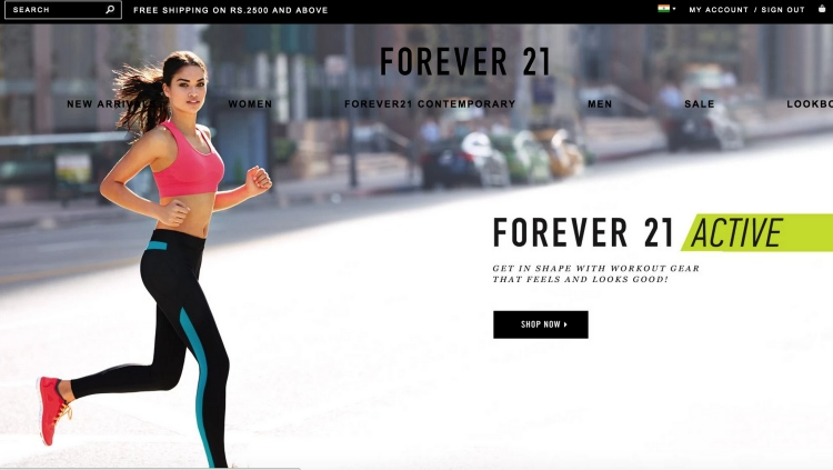 Shopping Experience With Forever21.com website review india