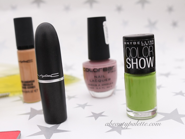 shopping haul maybelline colorshow colorbar nail paint mac
