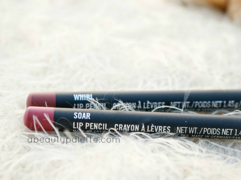 January Shopping Haul MAC Lipliner Soar, Whirl