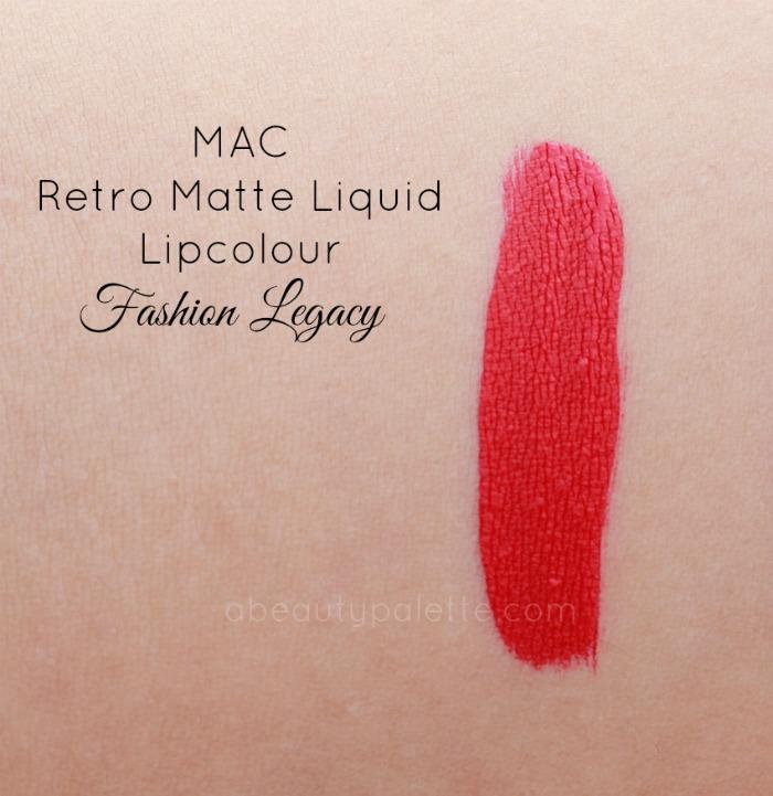 MAC Retro Matte Liquid Lipcolour- Fashion Legacy: Swatch