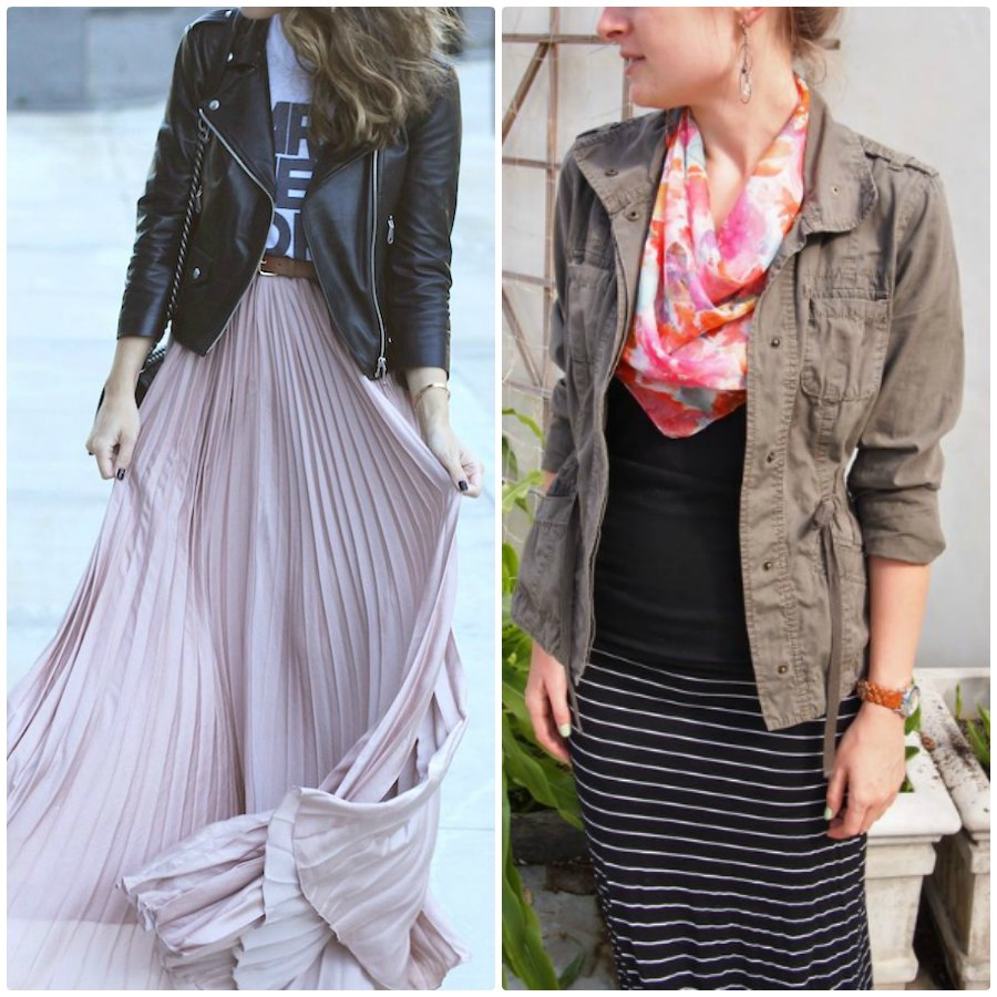 Different Ways To Wear A Maxi Skirt