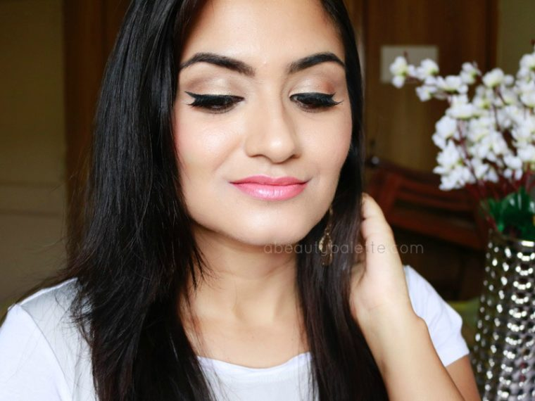 Gold+peach makeup tutorial