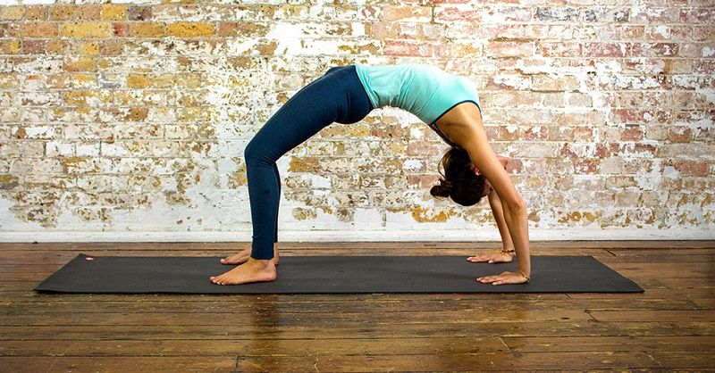 6. upward bow pose