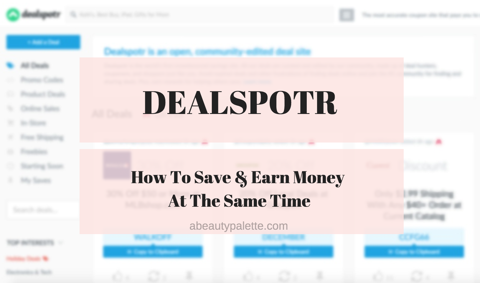 Dealspotr.com review