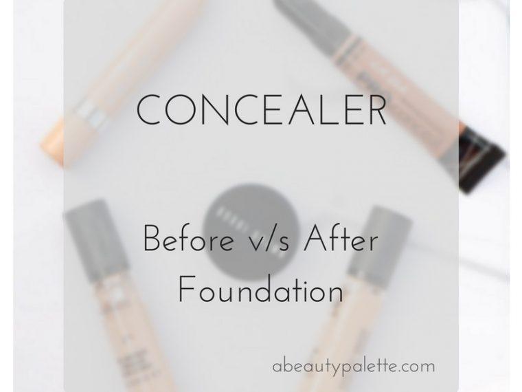Concealer before or after foundation
