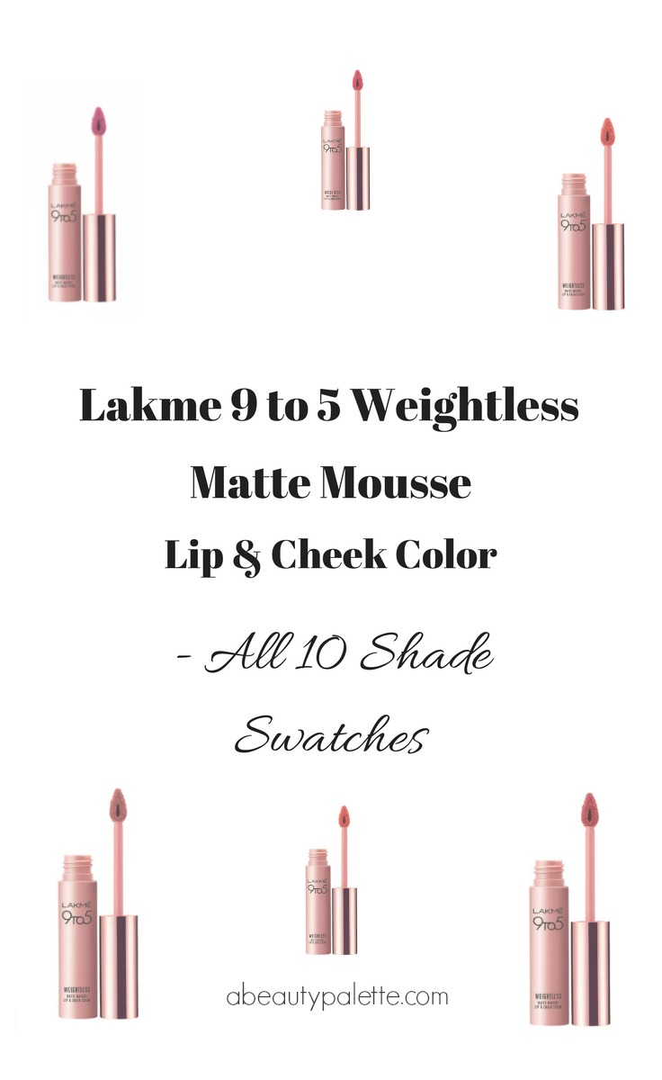 Lakme 9 to 5 Weightless Matte Mousse Lip & Cheek Color-2