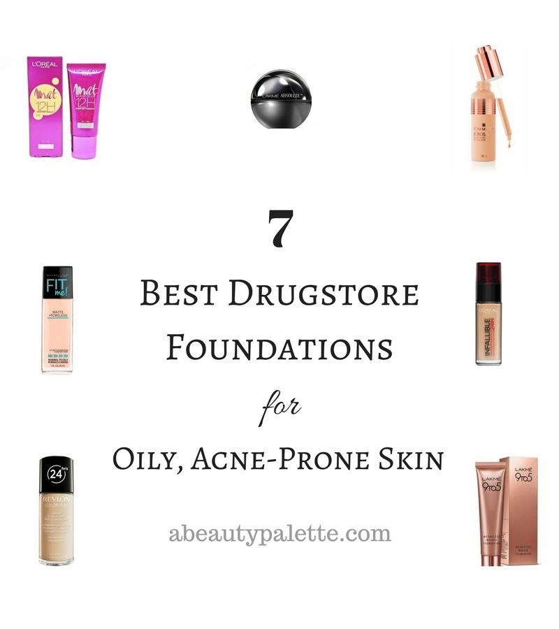 best drugstore foundations for acne prone skin