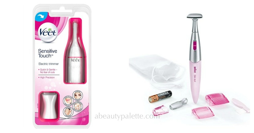 best hair removal products in india- Veet Sensitive Touch Electric Trimmer, braun electric trimmer