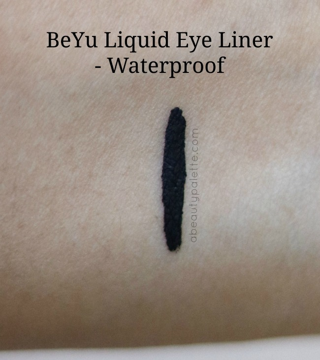 Beyu Deep Black Eyeliner : Waterproof- Swatch